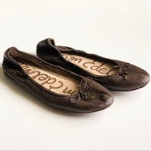 Sam Edelman dark brown leather ballet flats - 7.5